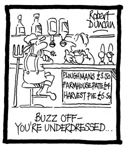Buzz off - you're underdressed